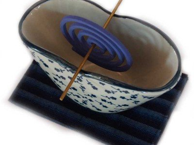 Komon Travel Incense Burner Sakura Murasaki Fine Japanese Imports