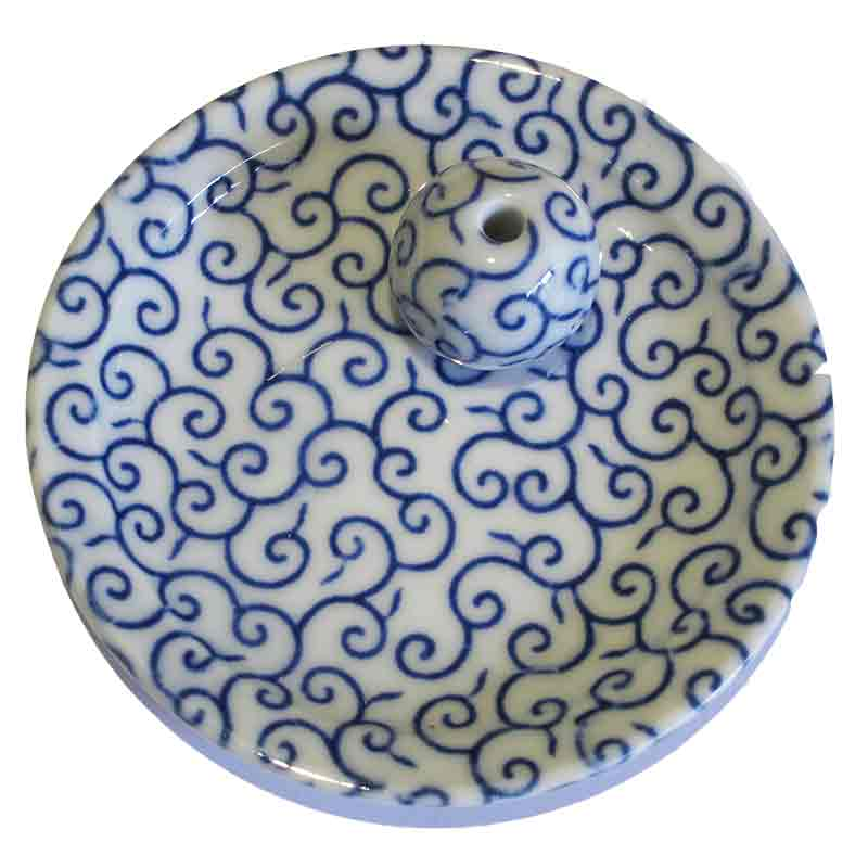 Japanese Arabesque incense holder that is ceramic, light and at very reasonable price.